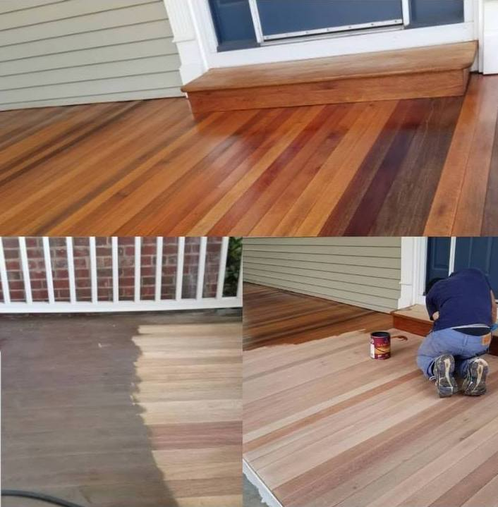 Refinishing a deck in Branchburg