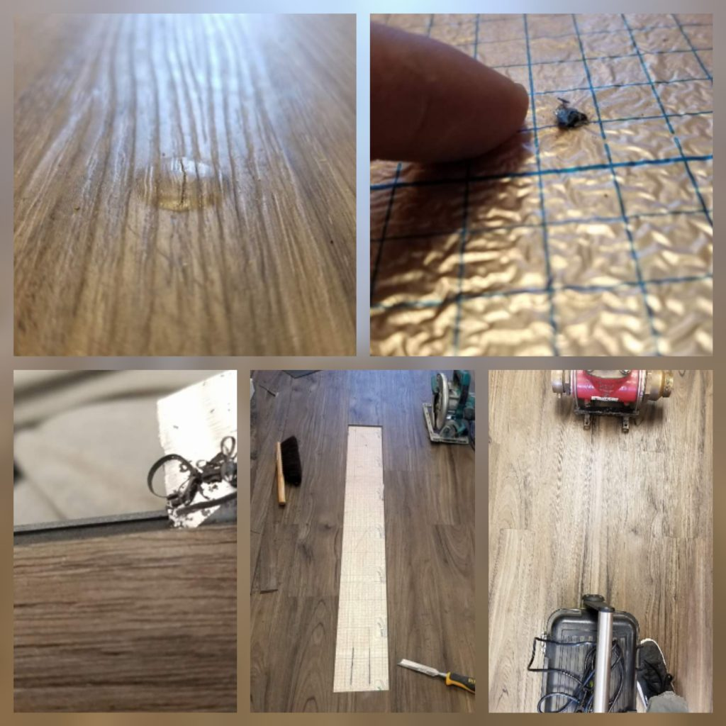 LVT plank repair in Readington