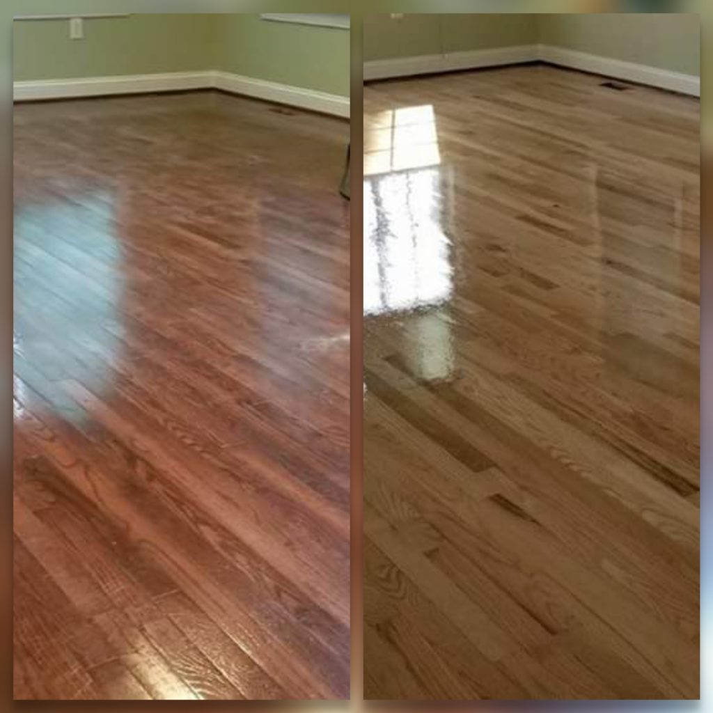 Before and after refinishing photos in Pittstown